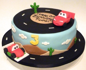 Lightening McQueen Car Birthday Cake